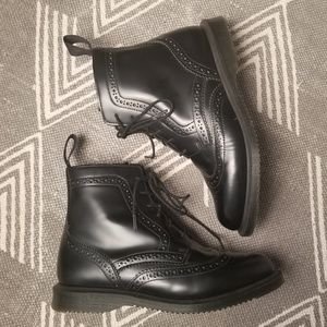 Dr. Martens Delphine Brogue Zip Booties